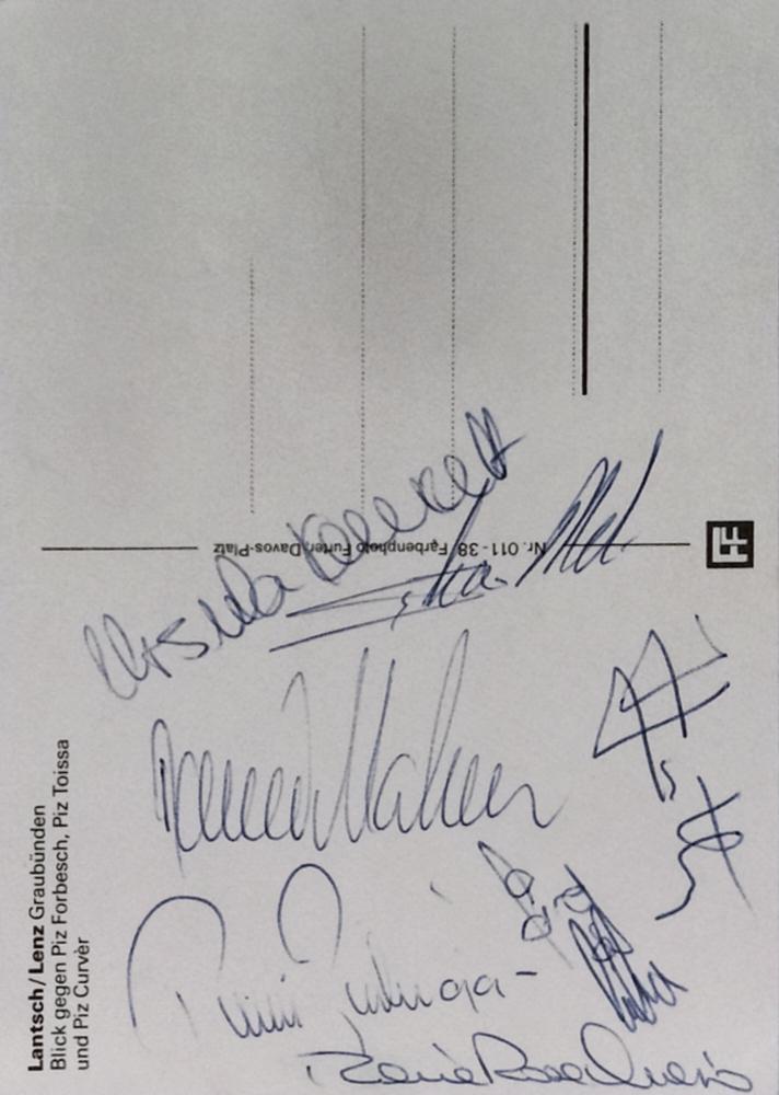 Pirmin Zurbriggen, Switzerland, Daniel Mahrer Switzerland, Maria Rosa Quario Italy, Ursula Konzett Liechtenstein, Jacques Lüthi Switzerland, Silvano Meli Switzerland, met in Person at Swiss Championship 1984