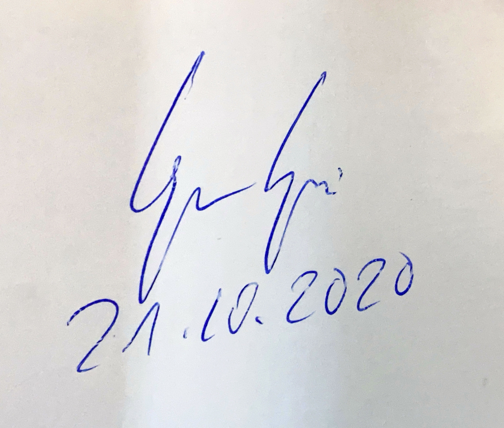 Gregor Gysi (1948), lawyer, was Leader of Socialist Unity Party of Germany 1989, Leader of the Party of Democratic Socialism (1989-1993), was President of the Party of the European Left, Autograph by Mail
