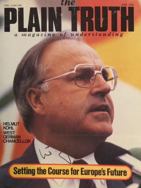 Autograph Helmut Kohl Autogramm