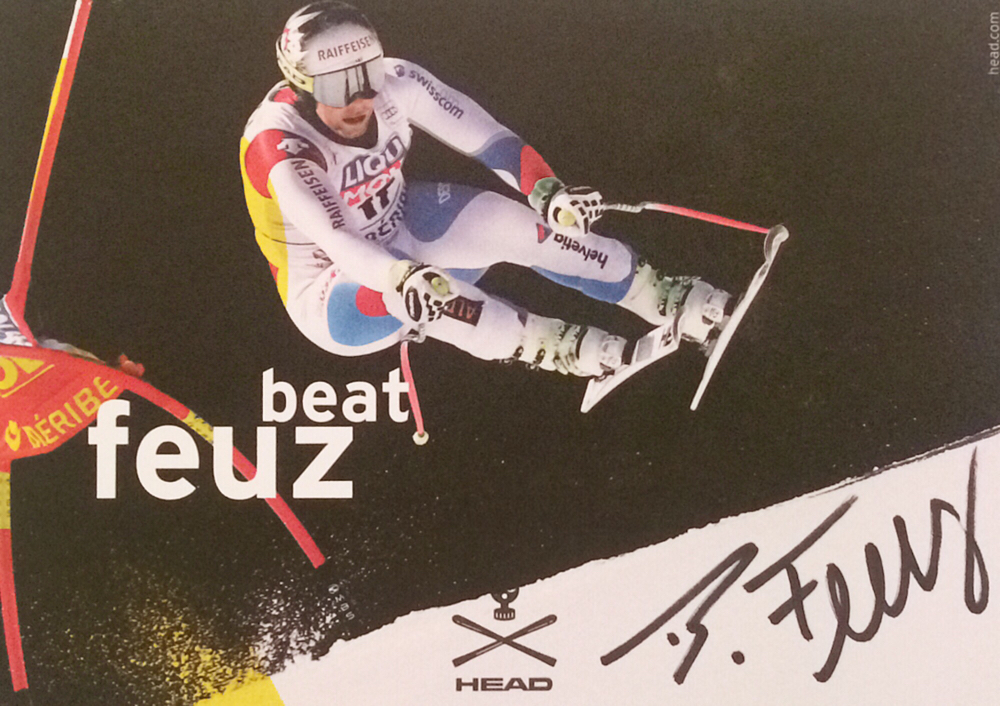 Beat Feuz Switzerland, World Champion Downhill 2017, 9 Worldcup Races won, 3times Lauberhorn Race won, Autograph by Mail