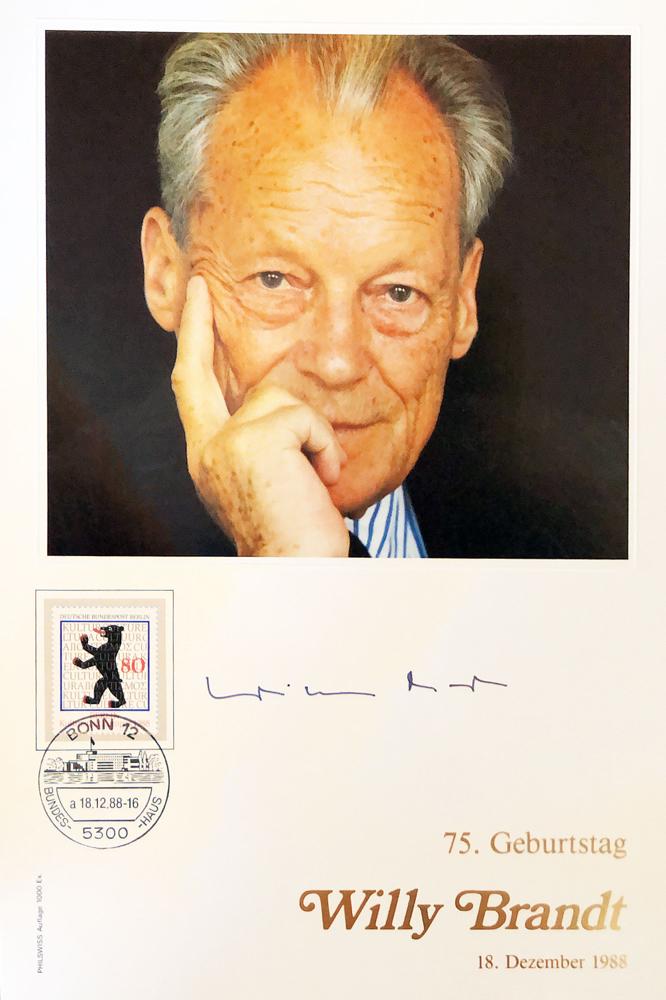 Autograph Willy Brandt Autogramm