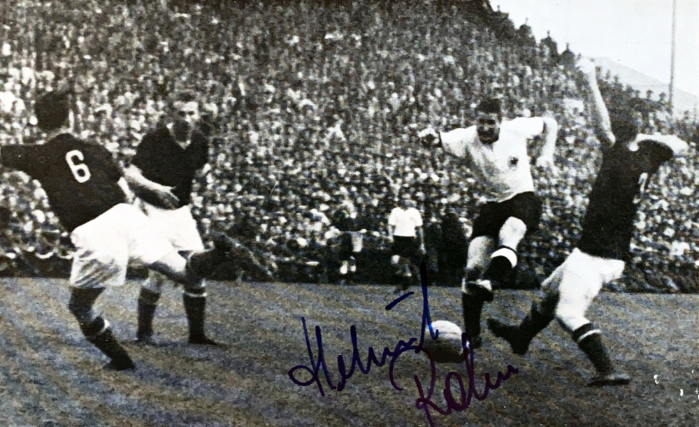 Autograph Helmut Rahn Autograph