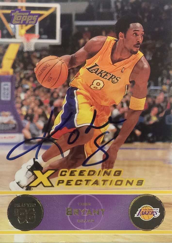 Kobe Bryant 1978-2020, 5 times NBA Champion, 18 times NBA All Star Team, 2 Olympic Gold medal, retired 2016 after playing 20 years for the L.A. Lakers, Autograph bought