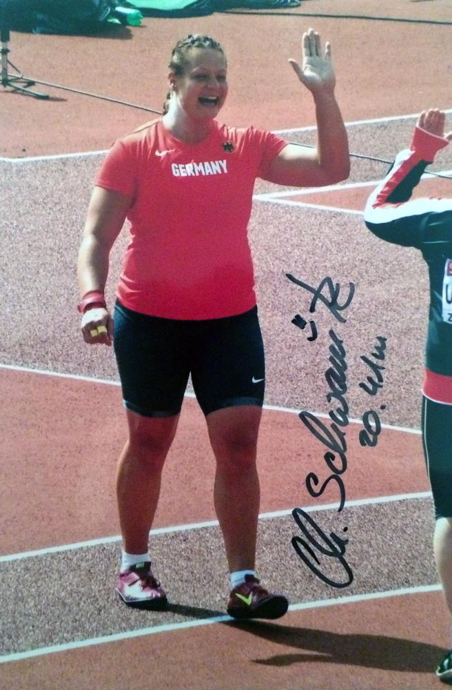 Autogramm Christine Schwanitz Autograph