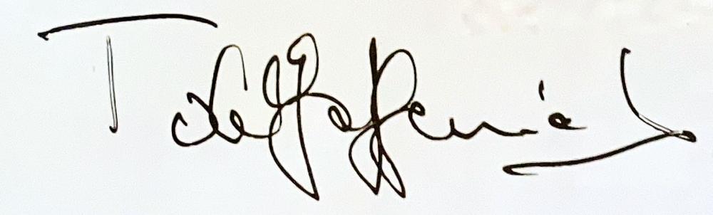 Autograph Toulo de Graffenried Autogramm