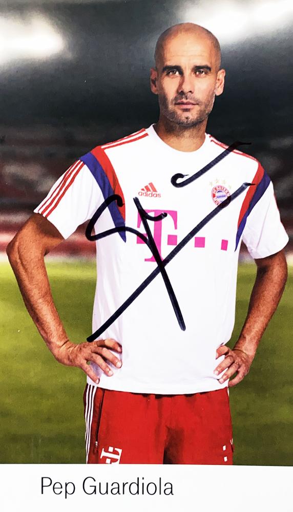 Autograph Pep Guardiola Autogramm