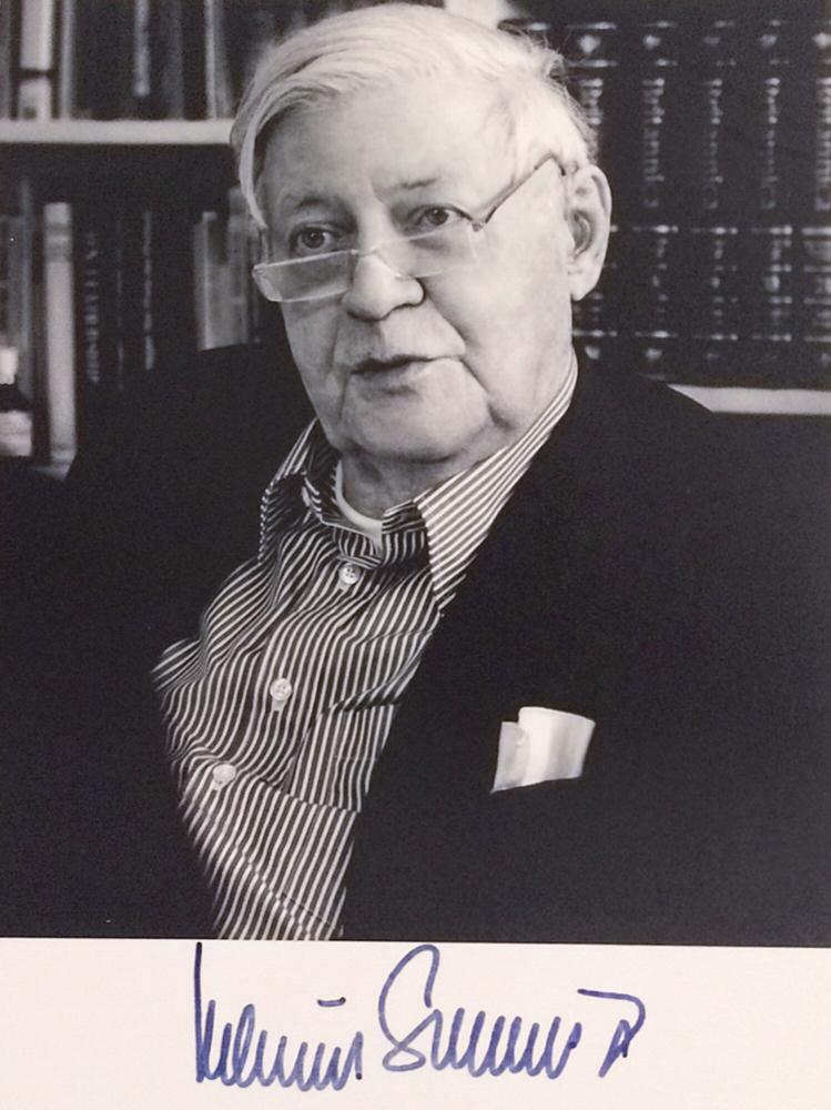Autograph Helmut Schmidt Autogramm