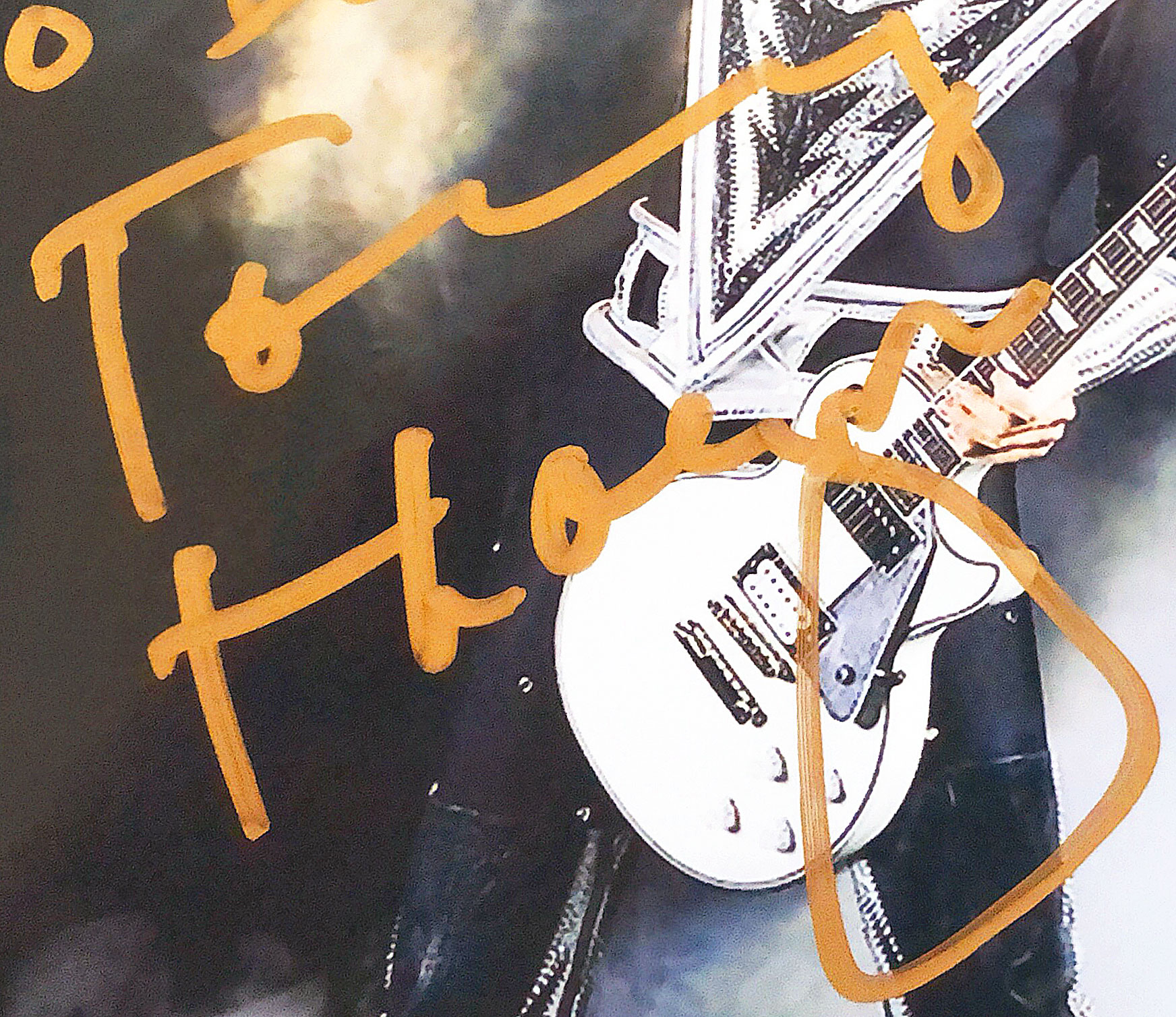KISS: Tommy Thayer Lead Guitar Autograph by Mail