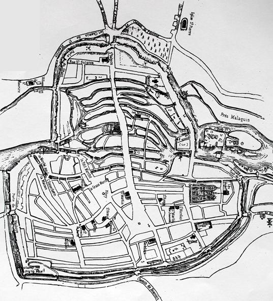 Plan d'Amiens au milieur du XIXème siècle