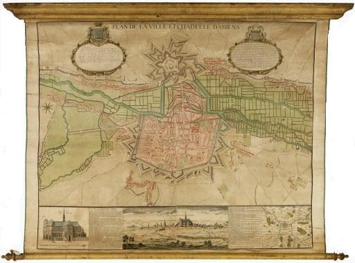 Plan de la ville et citadelle d'Amiens, 18ème siècle (Source: Archives nationales)
