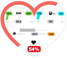 Calculador de calorías de entrenador personal virtual