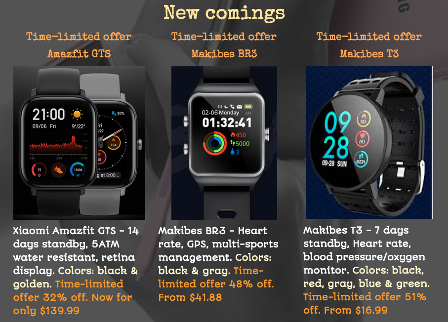 virtual personal trainer's affiliate smart watches