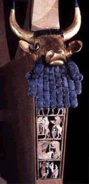 Stierkopf-Leier, aus den Königsgräbern von Ur