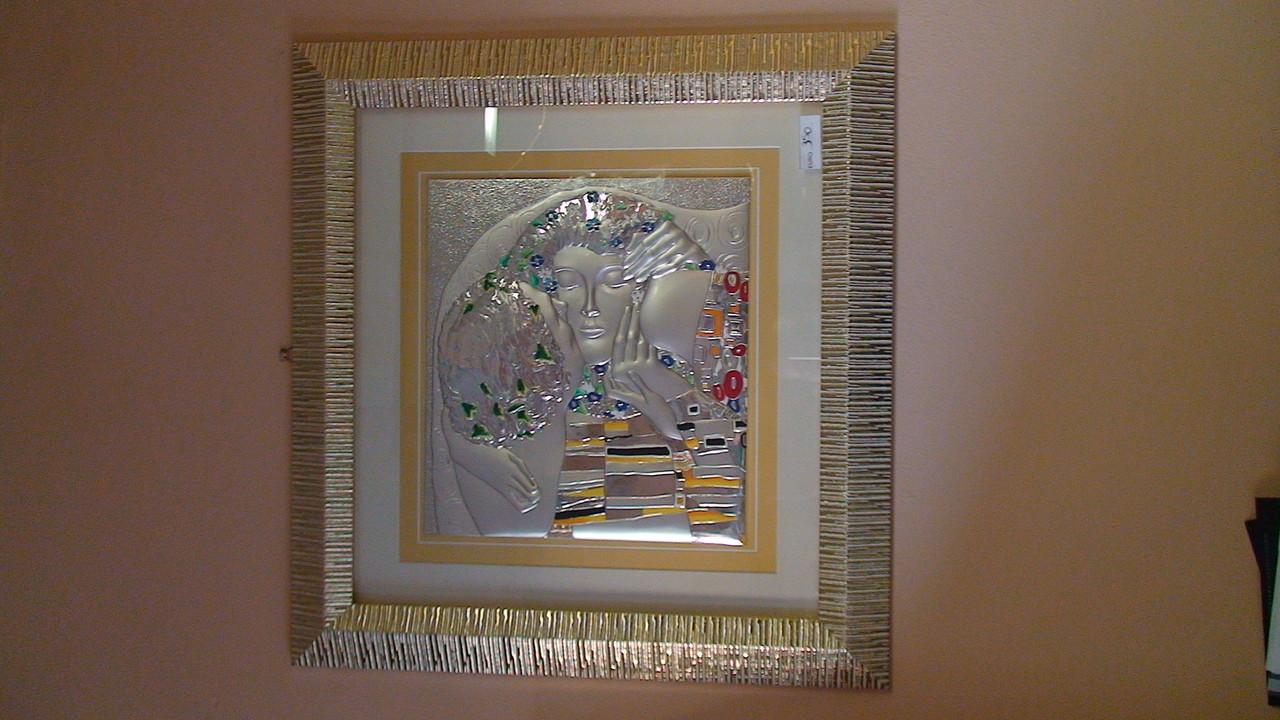 quadro sacro in legno e argento