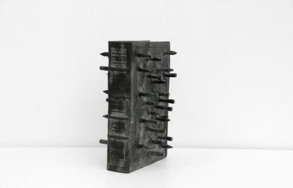 Günther Uecker - von 2018 - Bronzeskulptur 24,5 x 16,5 x 12cm