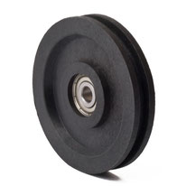 Cable Pulley Ø 63 mm for ropes up to Ø 4 mm with ball bearing