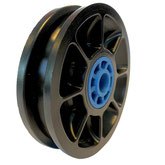 Cable Pulley Ø 75 mm for ropes up to Ø 8 mm with plain bearing inserts