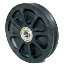 Cable Pulley Ø 100 mm for ropes up to Ø 4 mm with double ball bearing