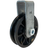 Cable Pulley Ø 75mm for ropes up to Ø 8 mm with double ball bearing and steel wall mount