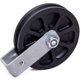 Cable Pulley Ø 100 mm for ropes up to Ø 4 mm with double ball bearing and steel wall mount