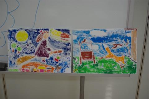 学校の作品を飾ってくれる子も。