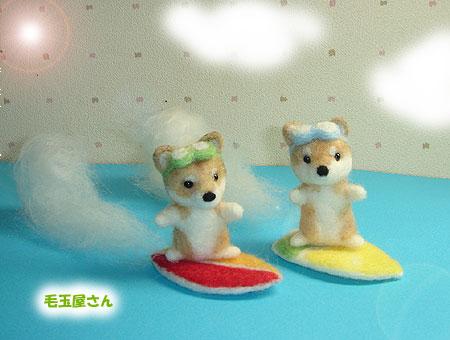 サーフィン柴犬たち