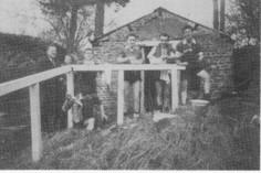Photo prise à WARMIFONTAINE. Avec CHARLIER Marcel, STEURS Jean., LIBERT C., LIBERT G., EVRARD P.