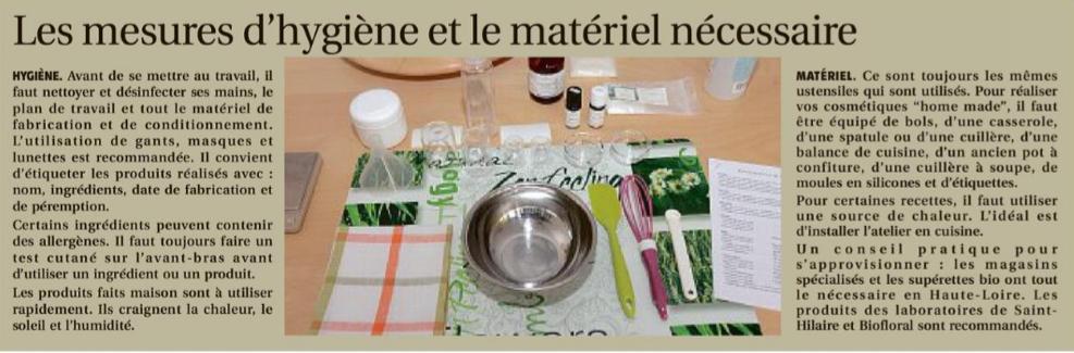 atelier cosmétique au puy-en-velay