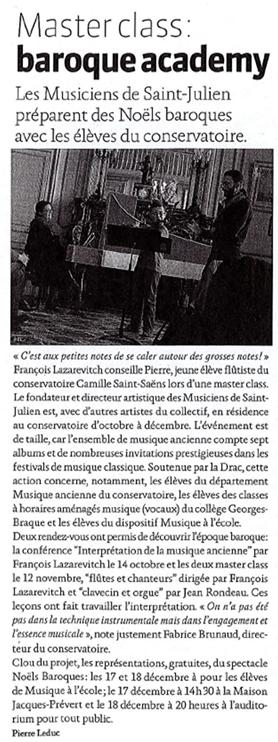 Journal de Bord - décembre 2014