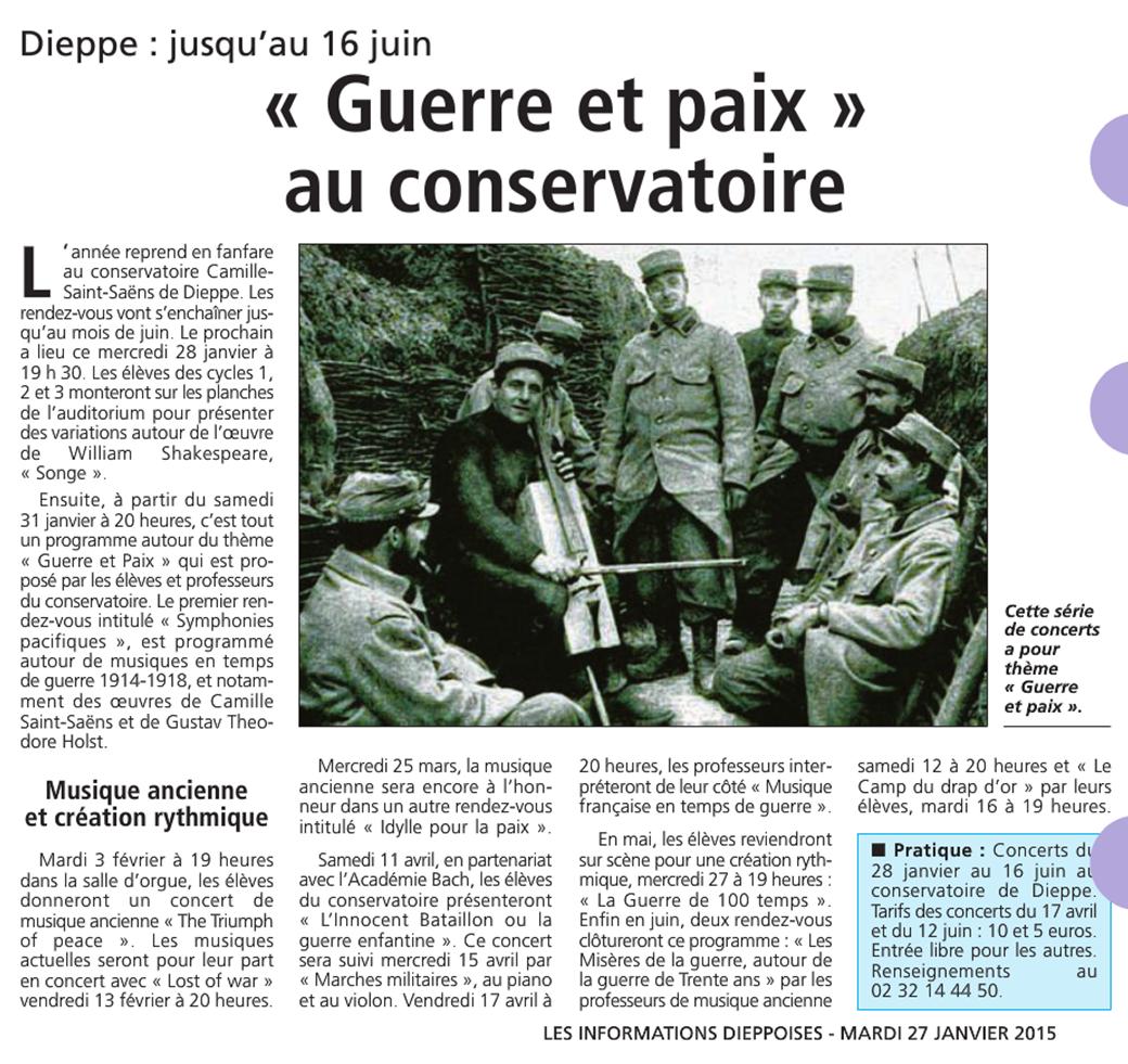 Informations Dieppoises - janvier 2015