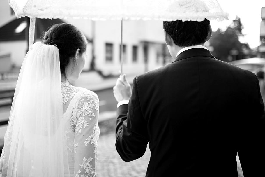 Martin Schneider Fotografie Hochzeitsportraits im Regen