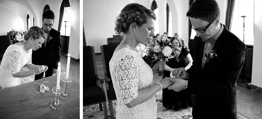 Hochzeit im Standesamt Görlitz Ringe anstecken