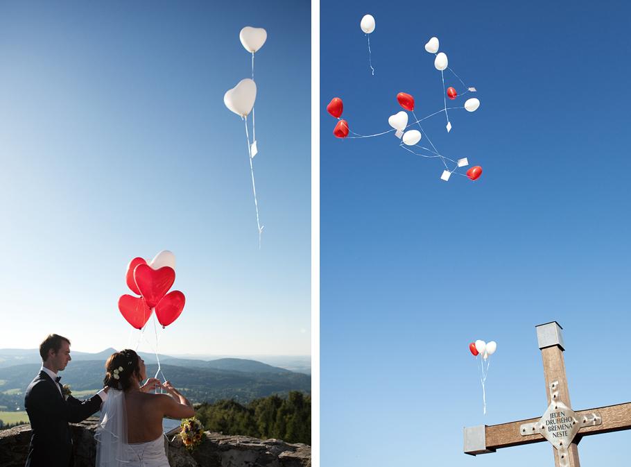 Hochzeit im Zittauer Gebirge Luftballons