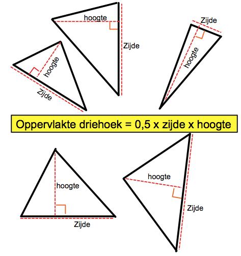 4.3 oppervlakte driehoek - wiskunde roncalli mavo - dhr verhoeff