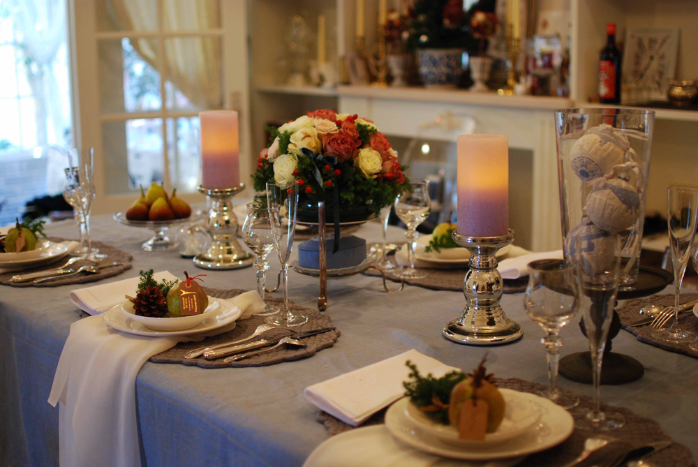 5年前のクリスマステーブルのシーズナルレッスンのお写真です。2019年はどんなクリスマスにしようかしら・・・💖