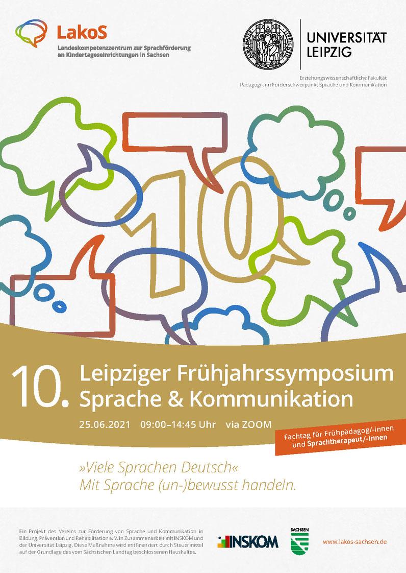 """10. Frühjahrssymposium """"Viele Sprachen Deutsch"""" 25.6.21"""