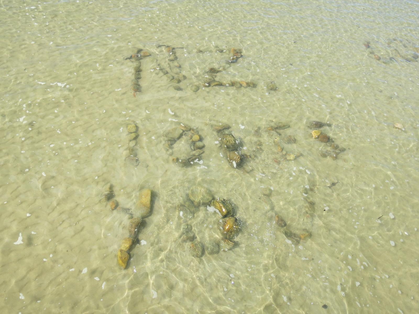 旅行者による石メッセージ / Abel Tasman National Park