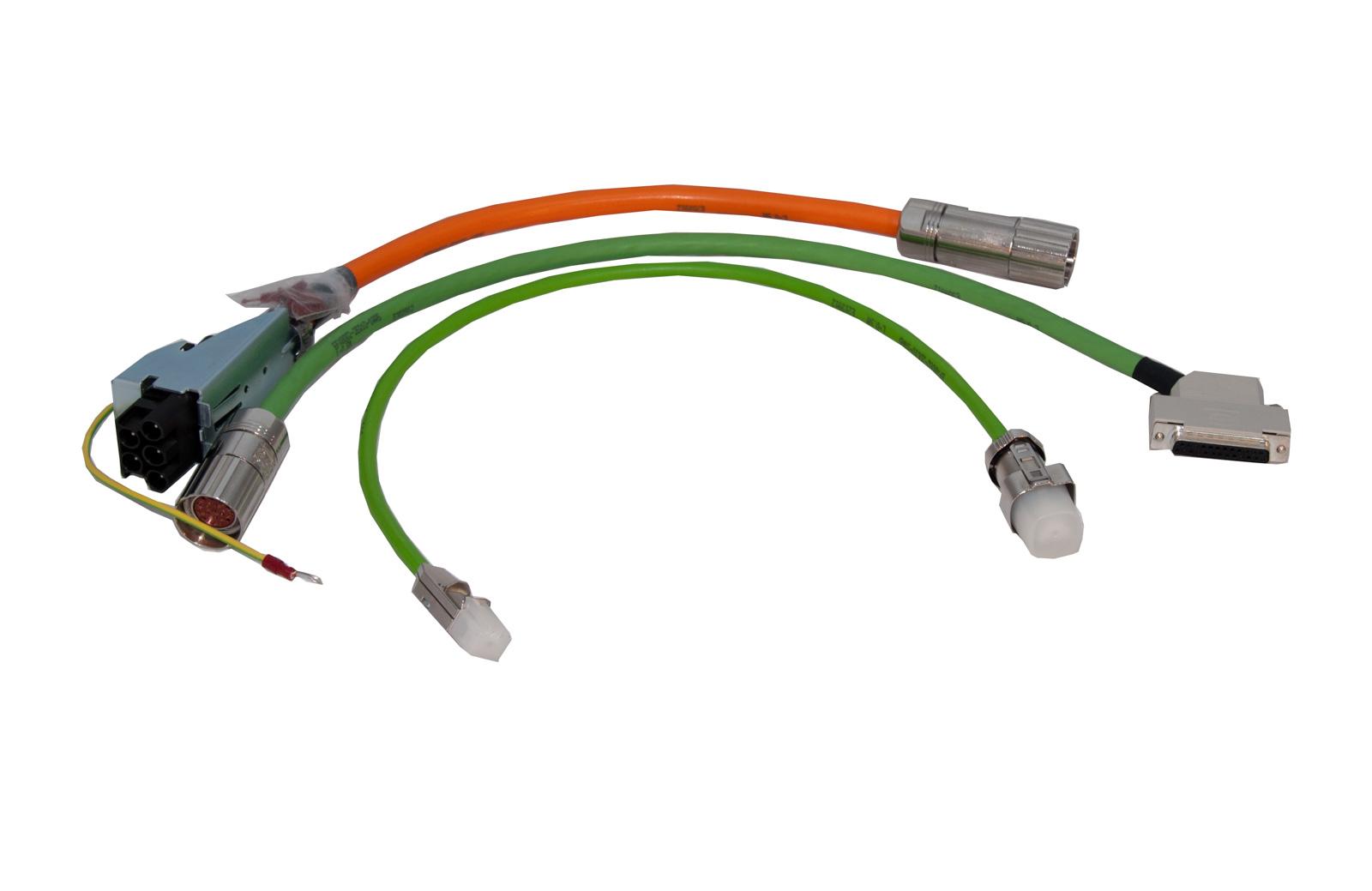 Konfektionierte Motor- und Signalleitungen  (z.B. nach 6FX8002)