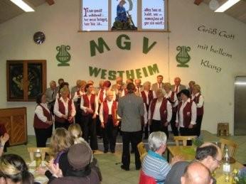 beim Liederabend in Westheim - 2010