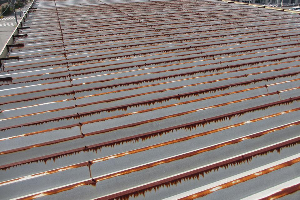 工場屋根の遮熱塗装・施工前