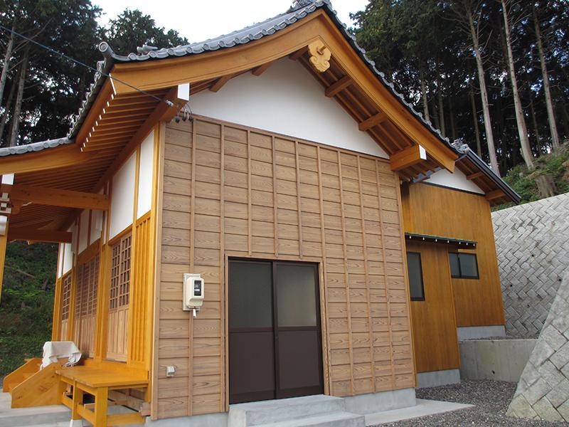 静岡県袋井市・神社本殿塗装