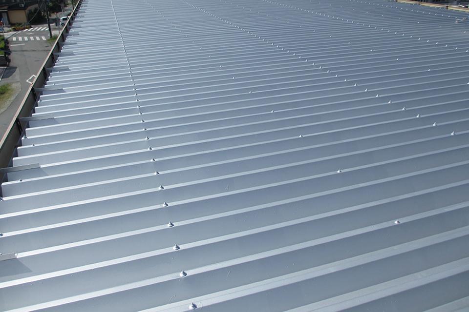 工場屋根の遮熱塗装・施工後