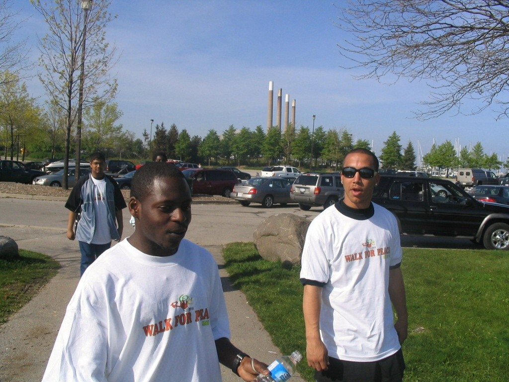 2006 WALK FOR PEACE---  ANDRE AND NATHANIEL