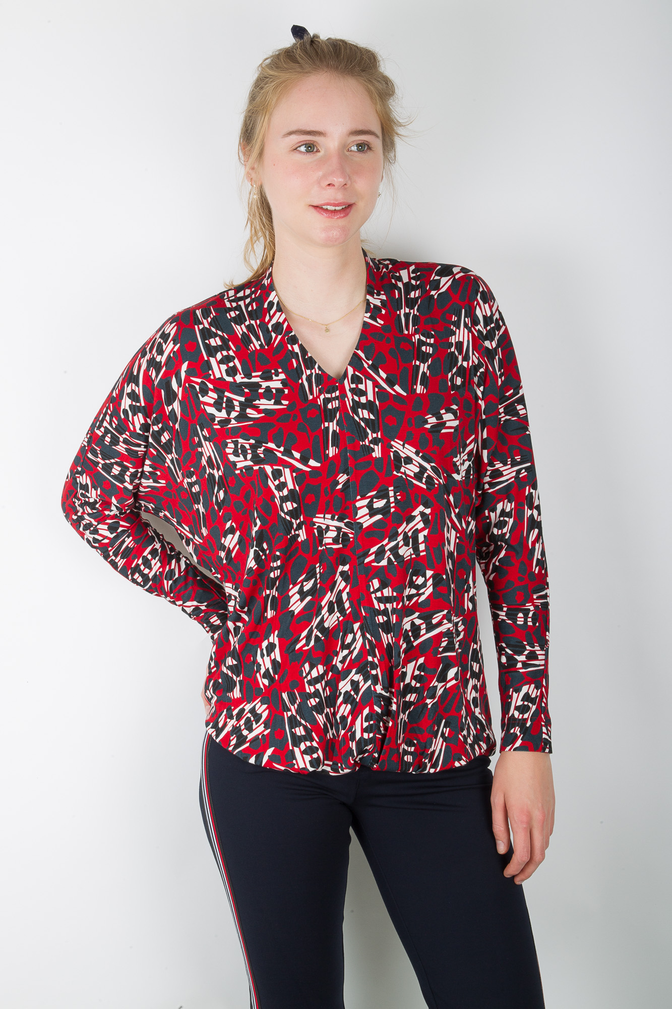 CHIARICO top wide abstract print