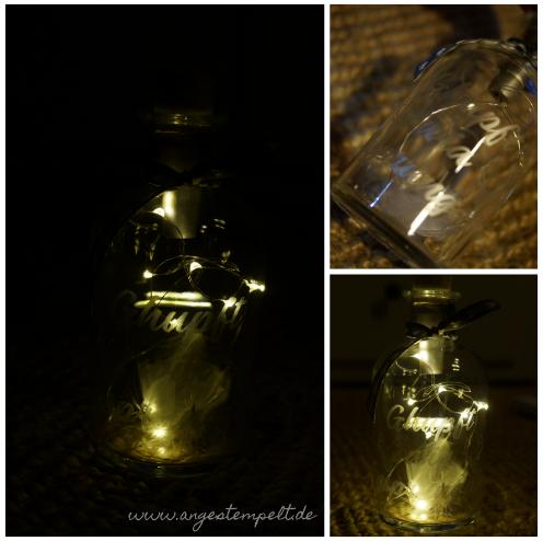 Die Leuchtflaschen habe ich mir ausgedacht als Teamswap