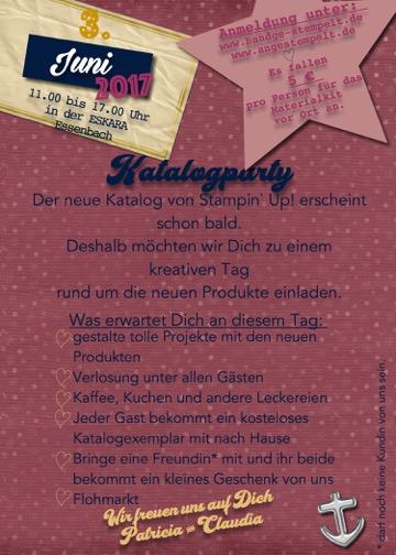 handgestempelt und angestempelt - Stampin´Up! Jahreskatalog 2017/18 Katalogparty