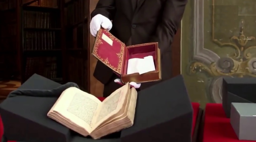 Originalseite aus dem italienischen Manuskript
