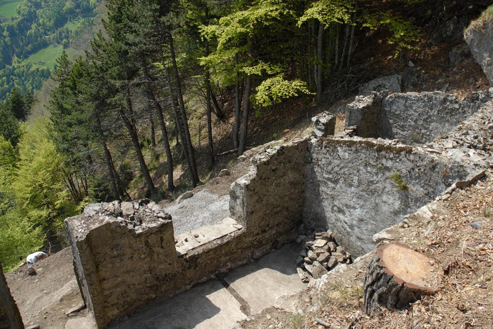 Recupero baraccamenti sul monte Melino della prima guerra mondiale