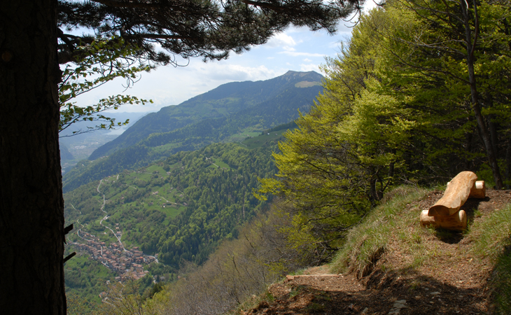 Castel Condino dal Monte Melino