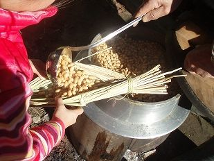 稲わら納豆作りは感動しますよ♪